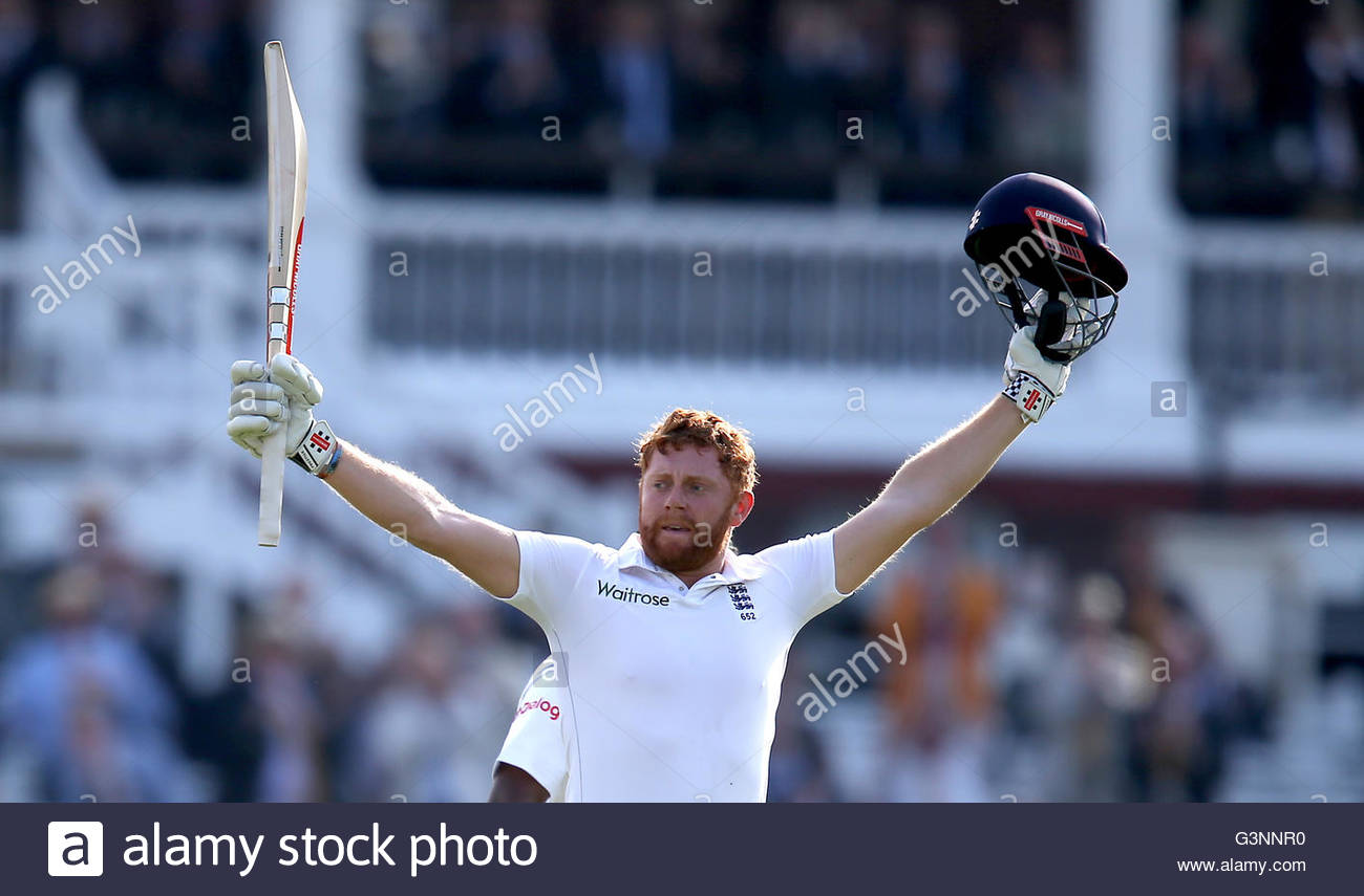 File photo dated 09-06-2016 of England's Jonny Bairstow, who has earned the right to take his brilliant Test - Stock Image