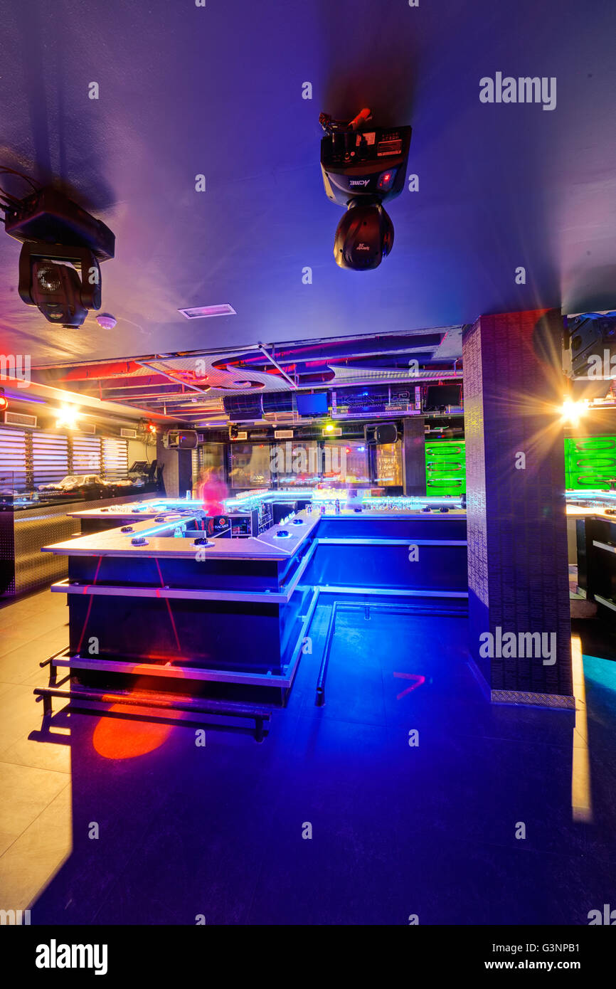 interior of night club with vivid colors stock photo 105584725 alamy rh alamy com