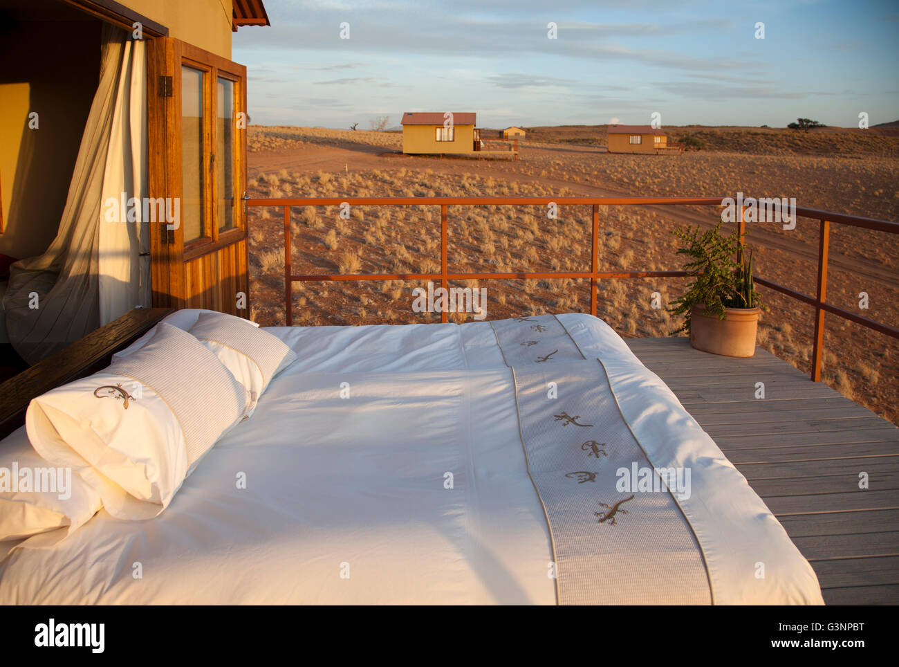 Namib Desert Star Dune Camp in Namibia - Stock Image