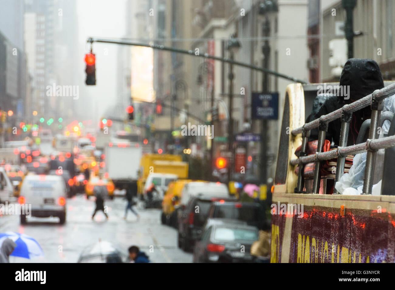Crowded New York street scene Stock Photo