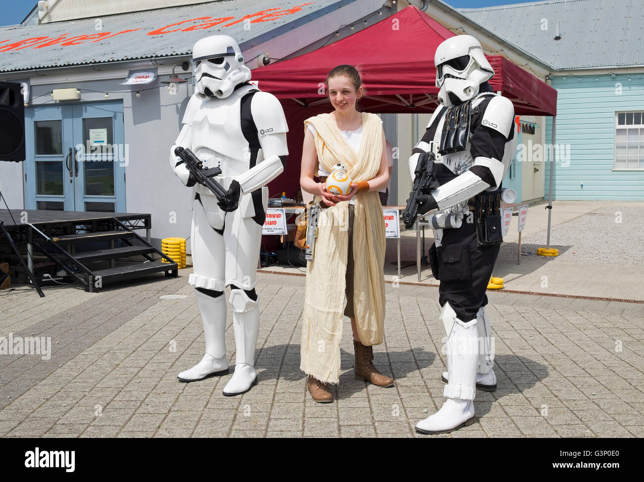 Star Wars characters at a cosplay event - Stock Image