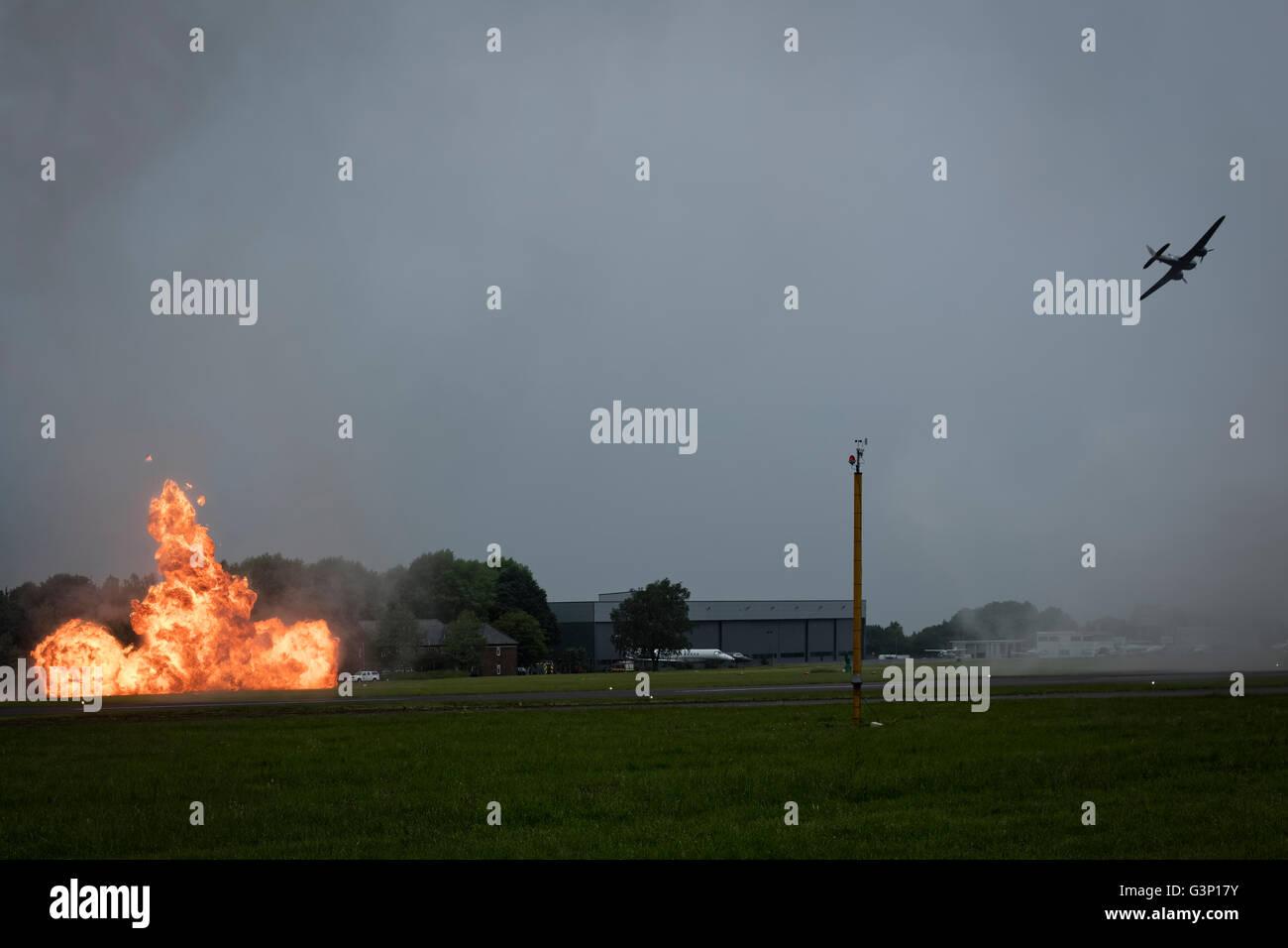 Biggin Hill Festival Of Flight >> Blenheim Bomber Causes A Fire At The Biggin Hill Festival Of