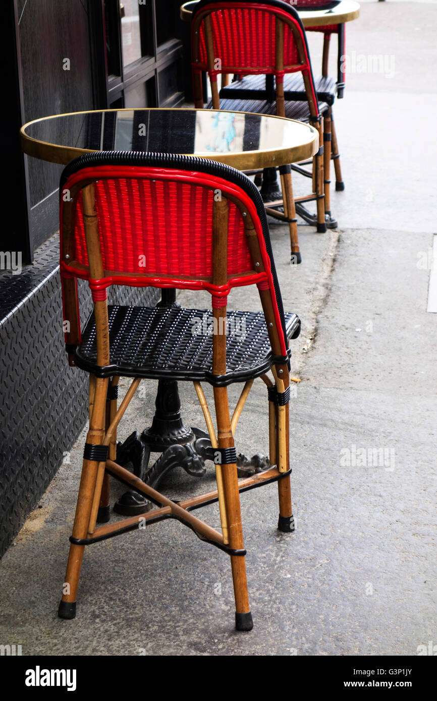 Street Cafe Chairs In Paris, France   Stock Image