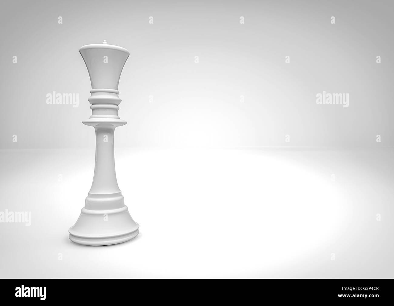 Chess queen / 3D render of chess piece - Stock Image