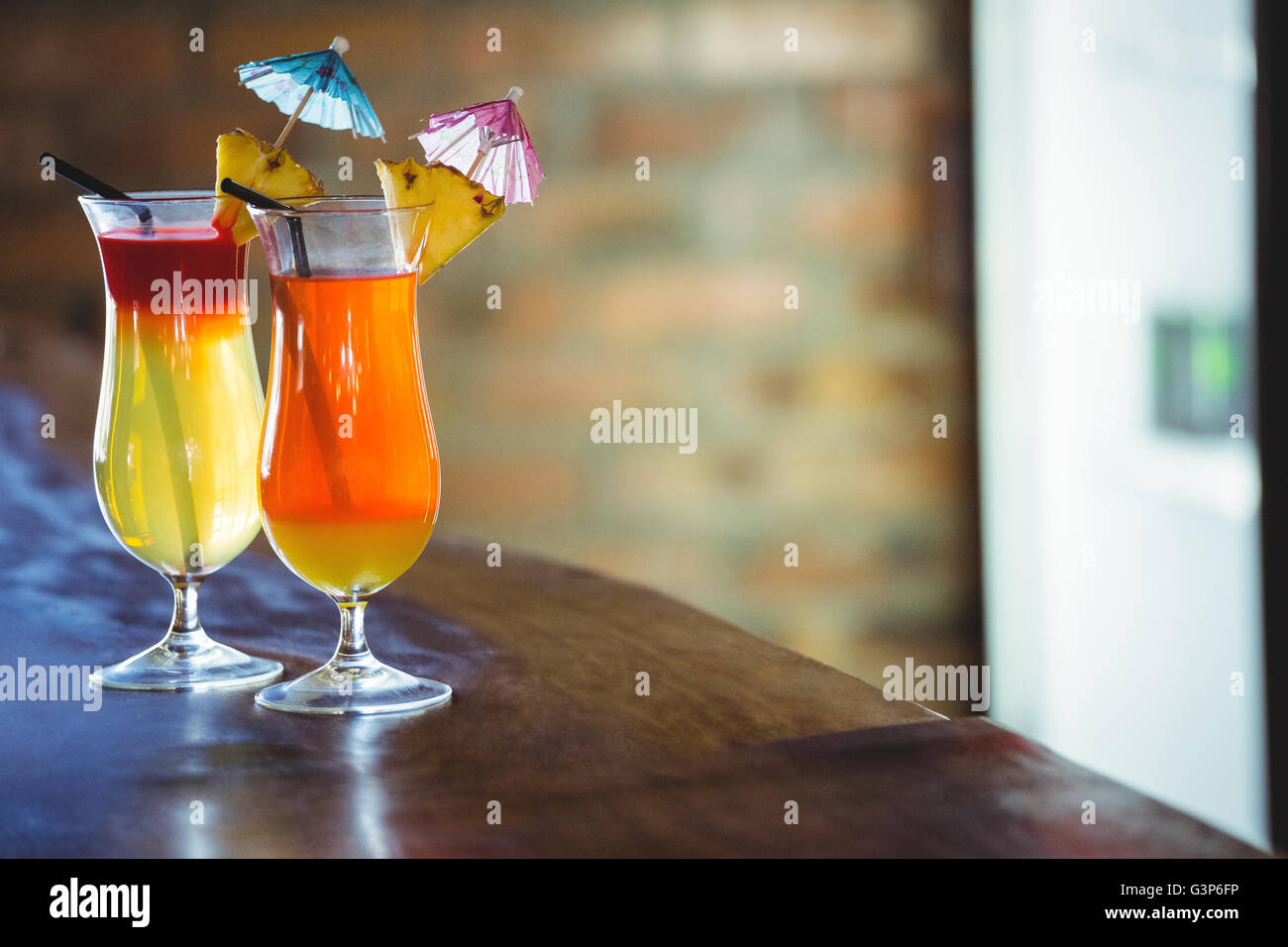 View of cocktails - Stock Image