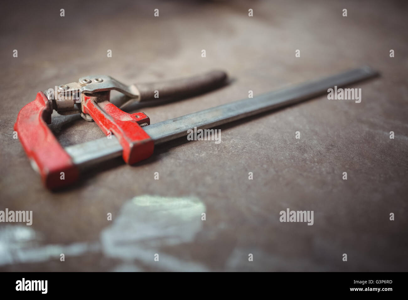 Close up of caliper on a table - Stock Image