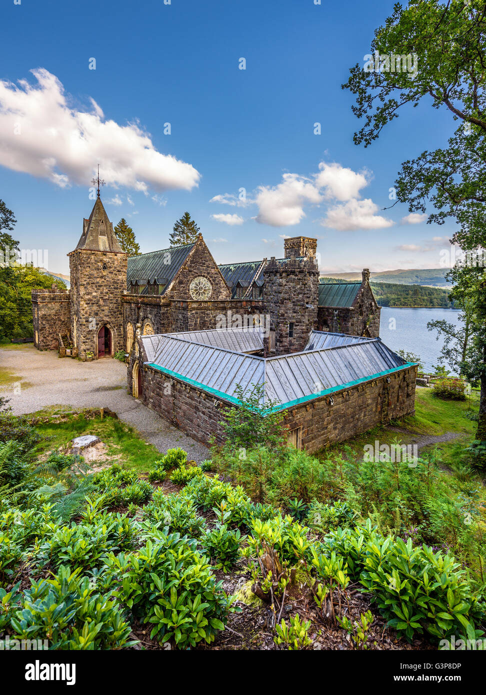 St. Conan's Kirk located on the banks of Loch Awe, Argyll and Bute, Scotland - Stock Image