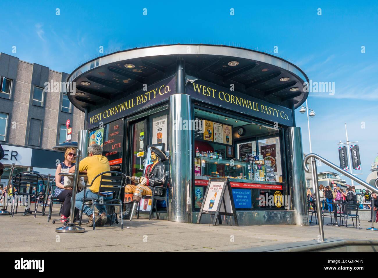 West Cornwall Pasty Company Brighton Sussex England UK Stock Photo