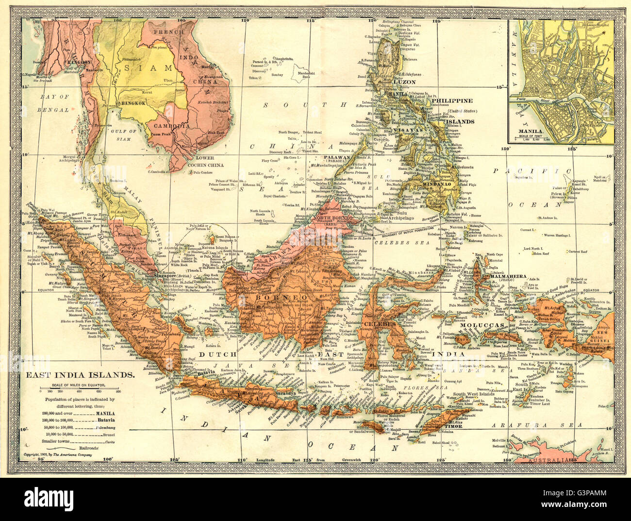 East indies east india islands indonesia philippines manila stock east india islands indonesia philippines manila environs 1907 map gumiabroncs Images