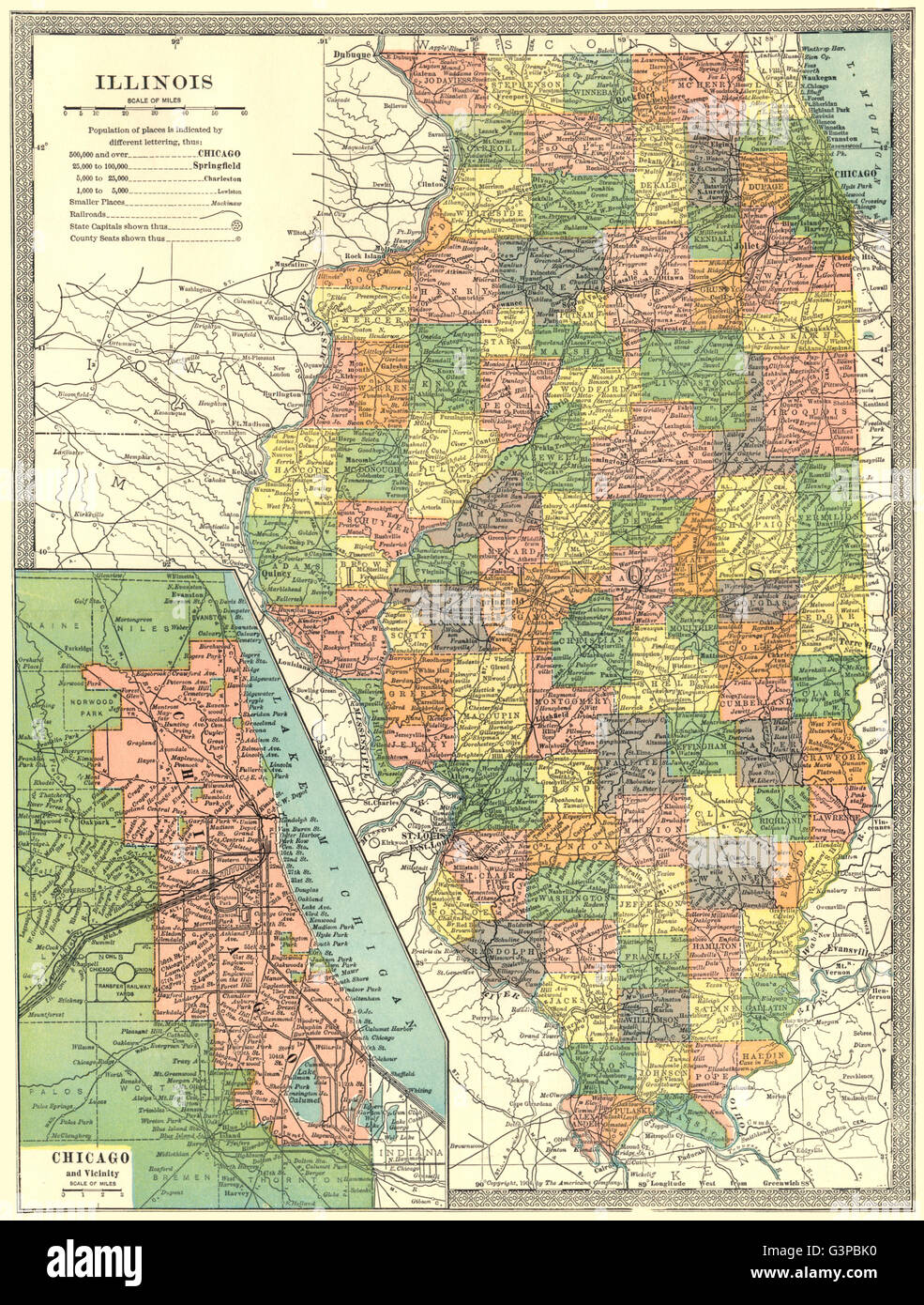 ILLINOIS state map. Counties. CHICAGO & environs, 1907 Stock ... on illinois state flag, illinois union map, illinois state city map, north dakota capital map, illinois state highway map, illinois state land map, illinois state motto, illinois largest cities map, illinois state map online, illinois state bird, illinois state capitol, georgetown capital map, illinois state project, illinois forest map, illinois deer map, illinois state fairgrounds map, illinois state flower, illinois springfield map, illinois state us map, u.s. capitol complex map,