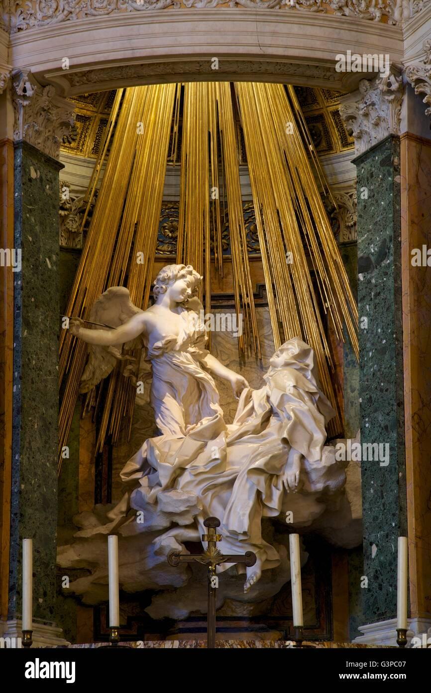 Ecstasy Of Saint Theresa Of Avila By Gian Lorenzo Bernini