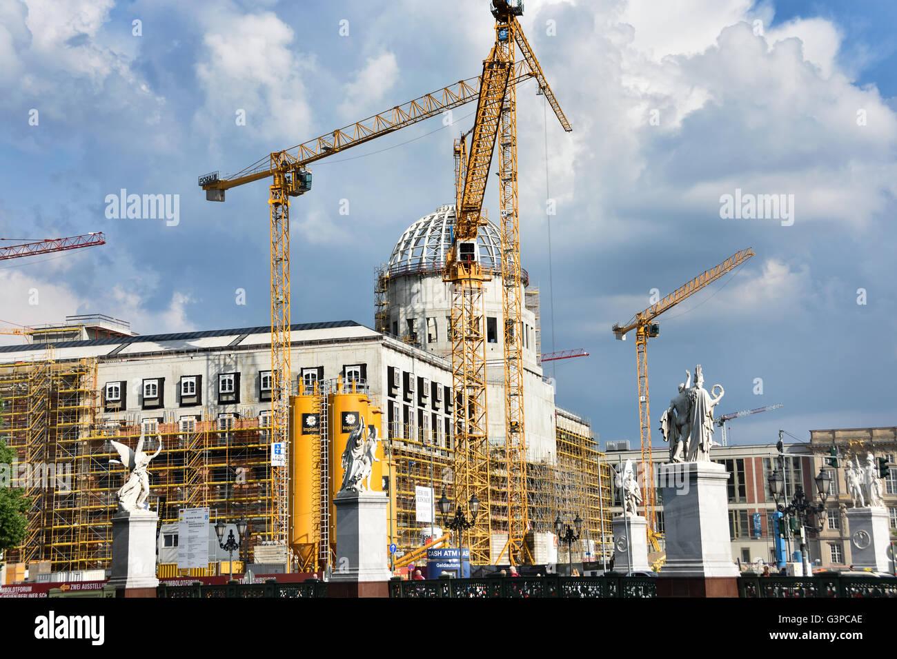 The Humboldt Forum - Humboldtforum palace or schloss at