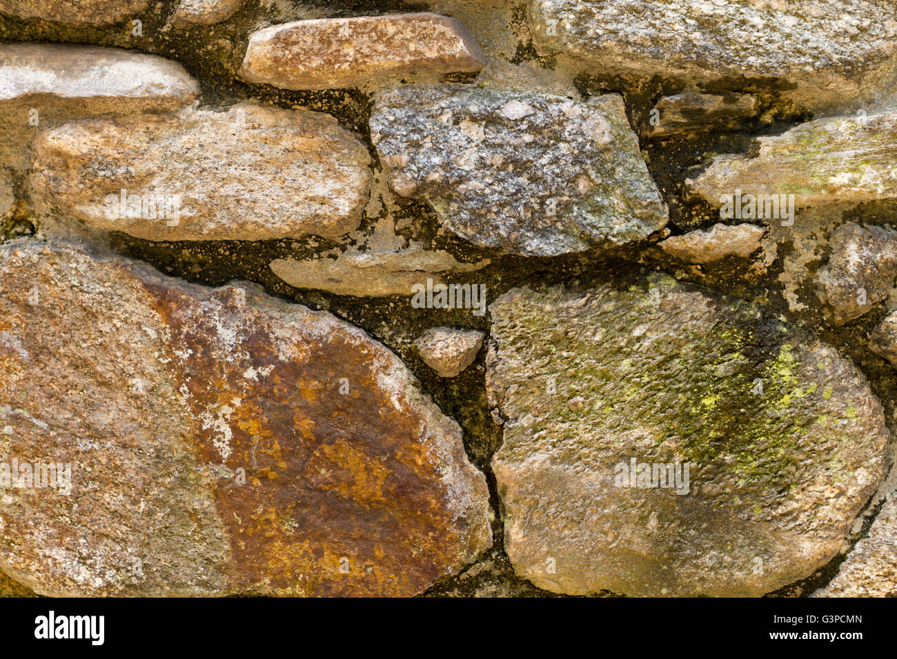 Rock wall with patina and texture - Stock Image