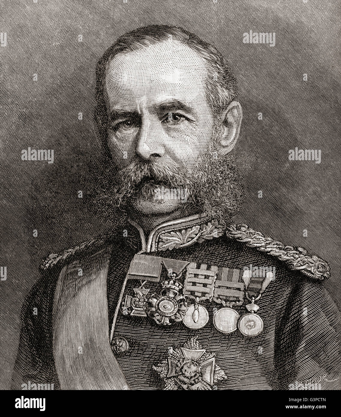 Field Marshal Frederick Sleigh Roberts, 1st Earl Roberts, 1832 – 1914. British soldier and commander. - Stock Image