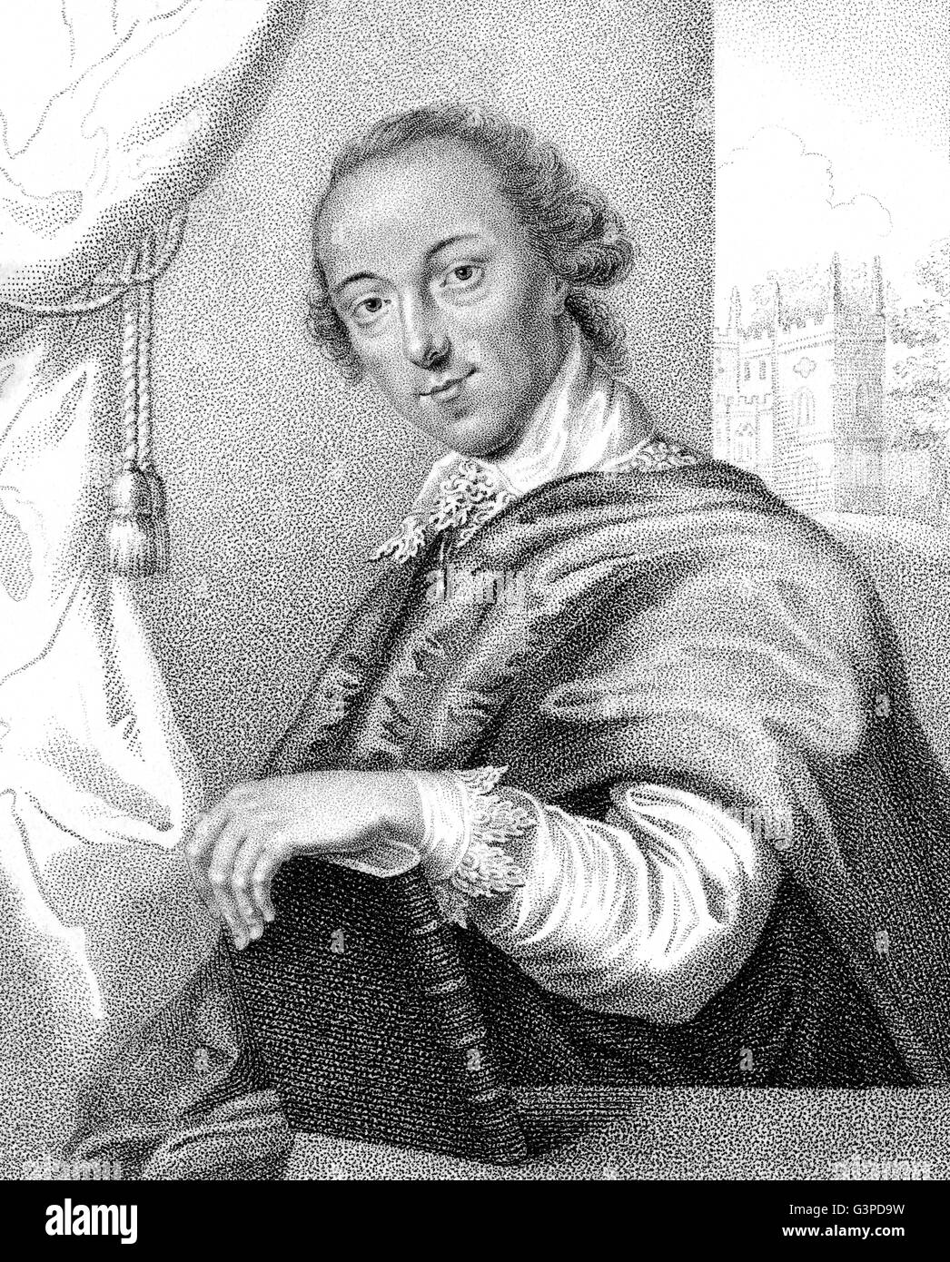 Horatio or Horace Walpole, 4th Earl of Orford, 1717-1797, an English art historian, man of letters, antiquarian - Stock Image