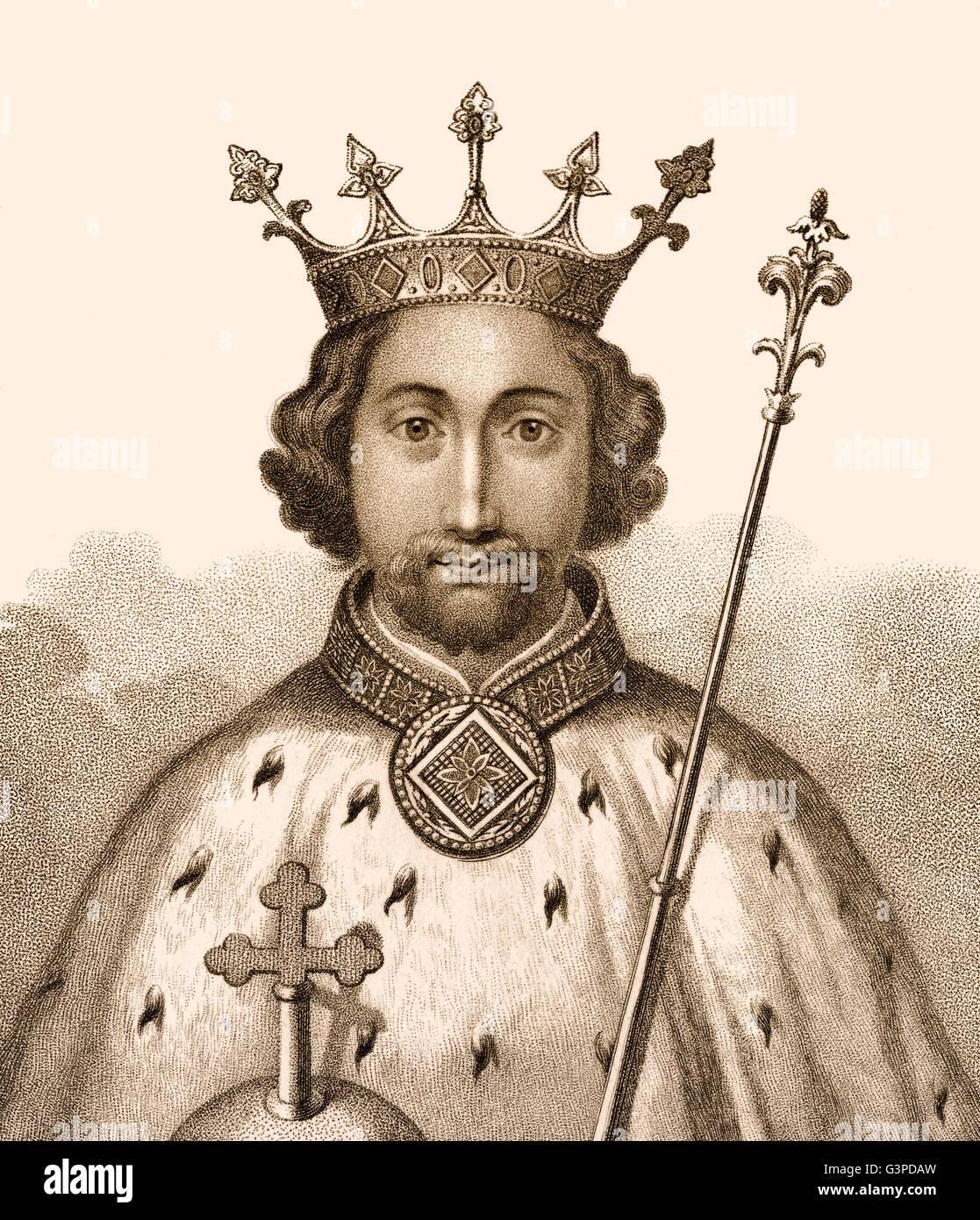 Richard II, Richard of Bordeaux, 1367-1400, King of England - Stock Image