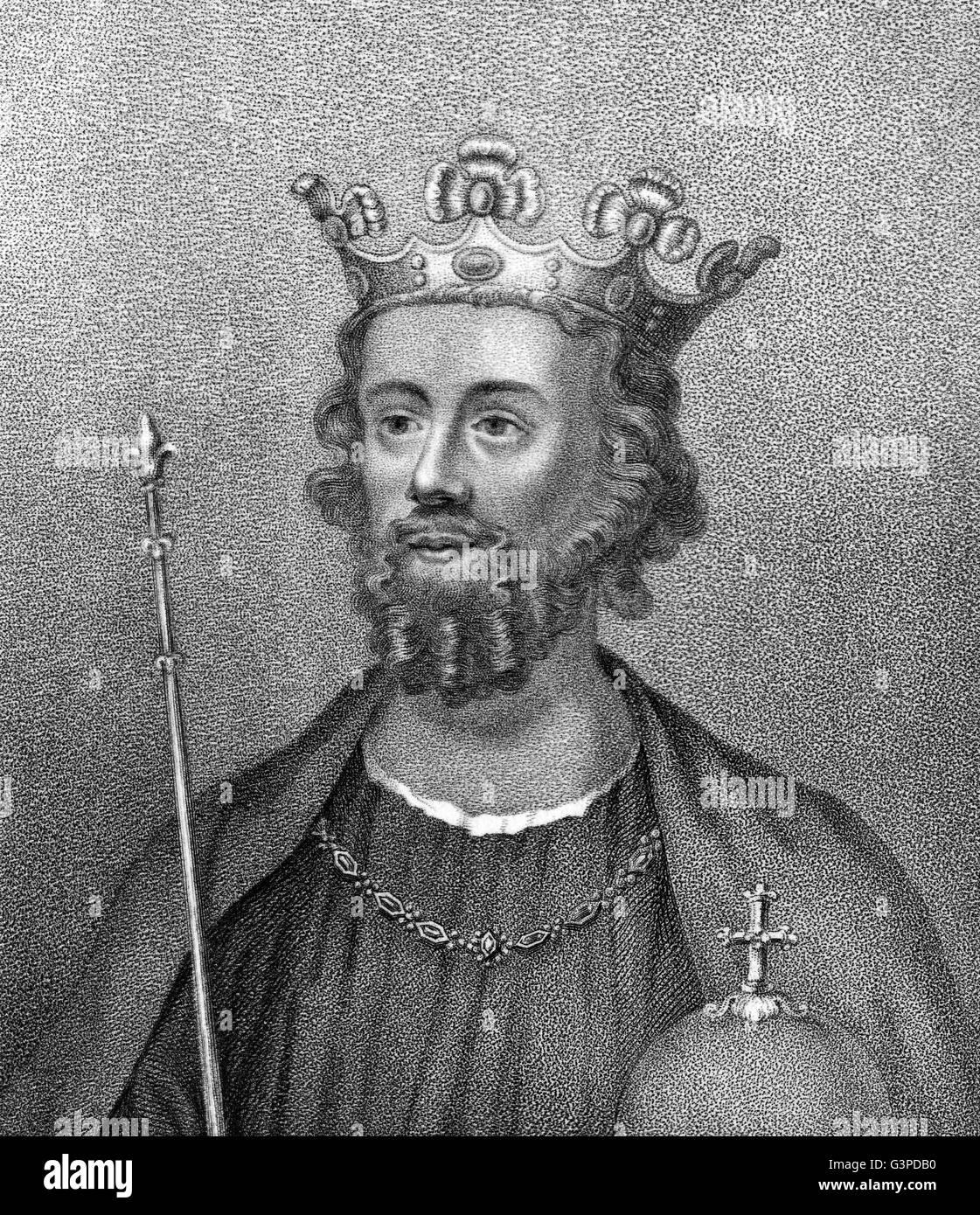 Edward II, Edward of Caernarfon, 1284-1327, King of England - Stock Image