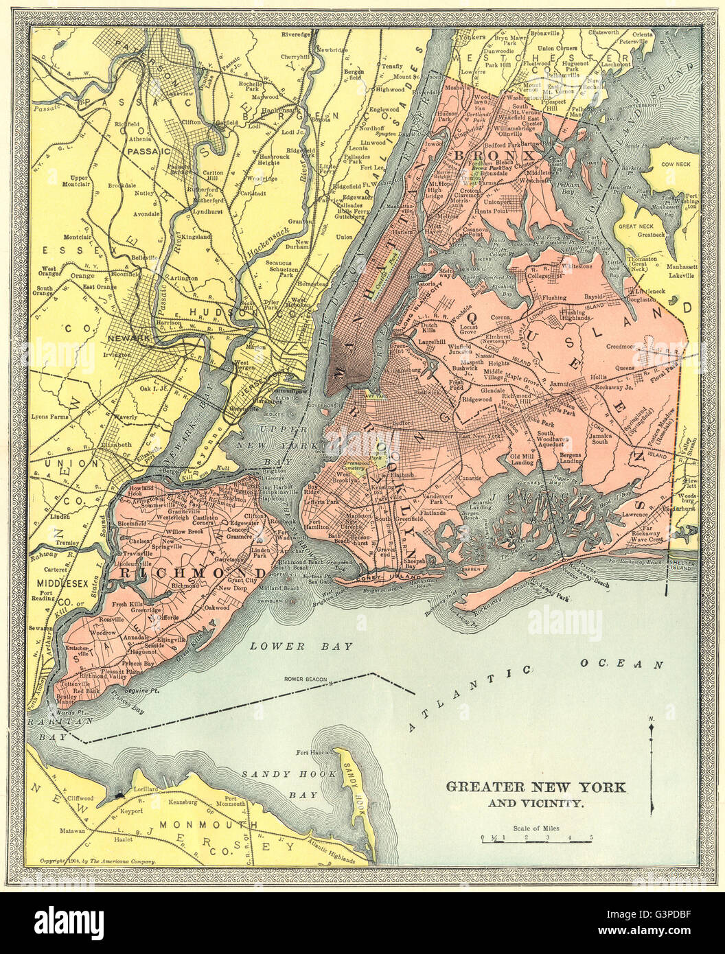 Map Of New York Bronx.New York City Town Plan Manhattan Brooklyn Queens Bronx Staten