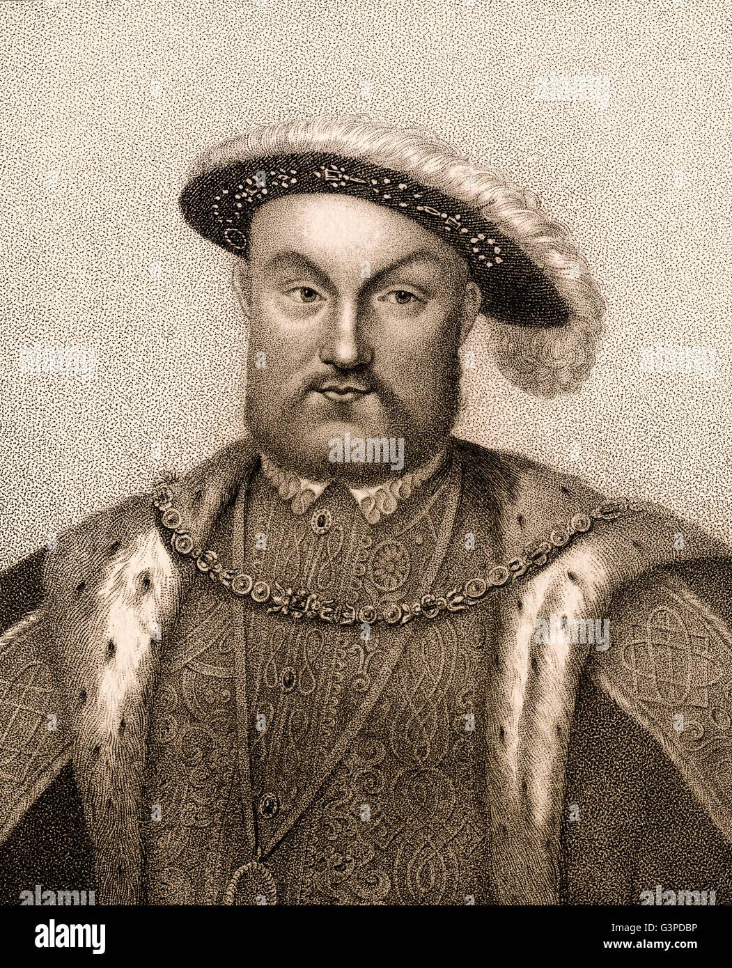 Henry VIII,  1491-1547, King of England - Stock Image
