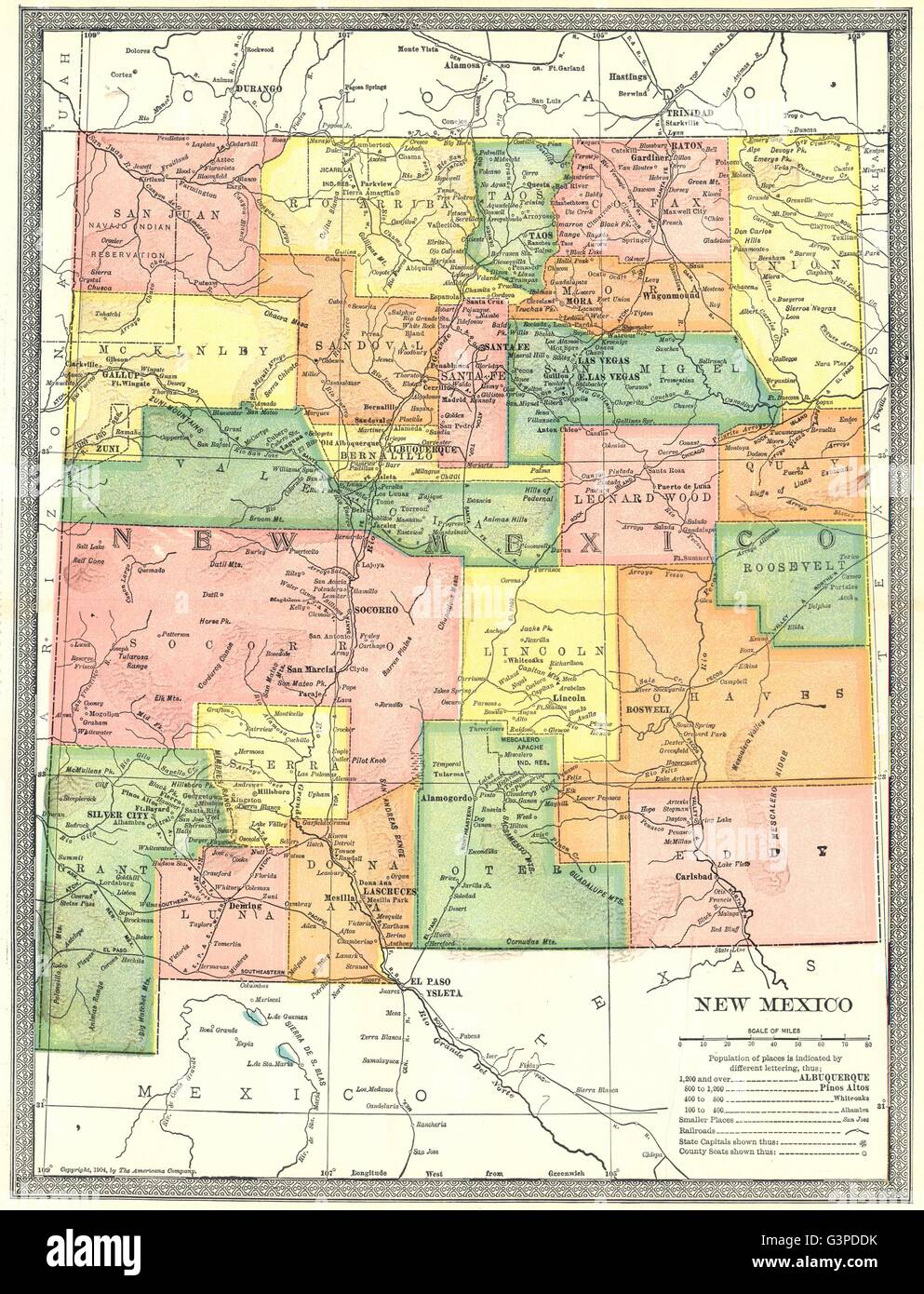 New Mexico State Map Stock Photos & New Mexico State Map Stock ...