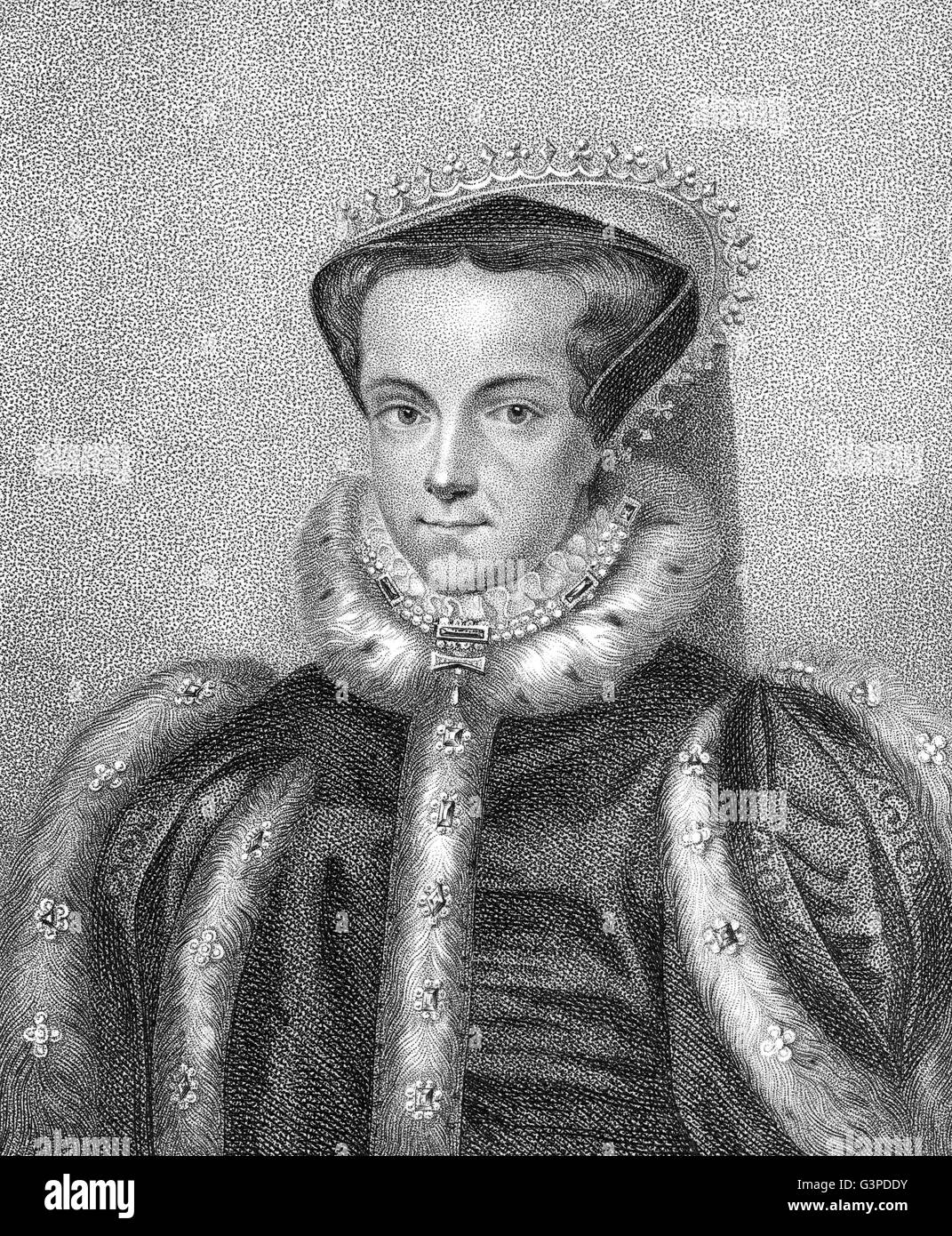 Mary I or Bloody Mary, 1516 - 1558, Queen of England and Ireland from 1553 until 1558, Maria I. Tudor - Stock Image