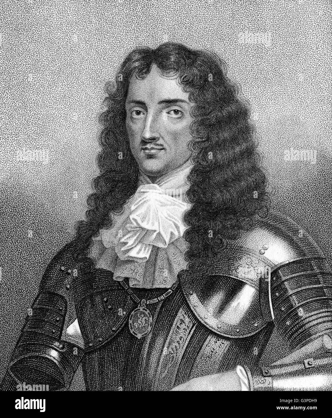 Charles II, 1630-1685, monarch of the three kingdoms of England, Scotland, and Ireland - Stock Image