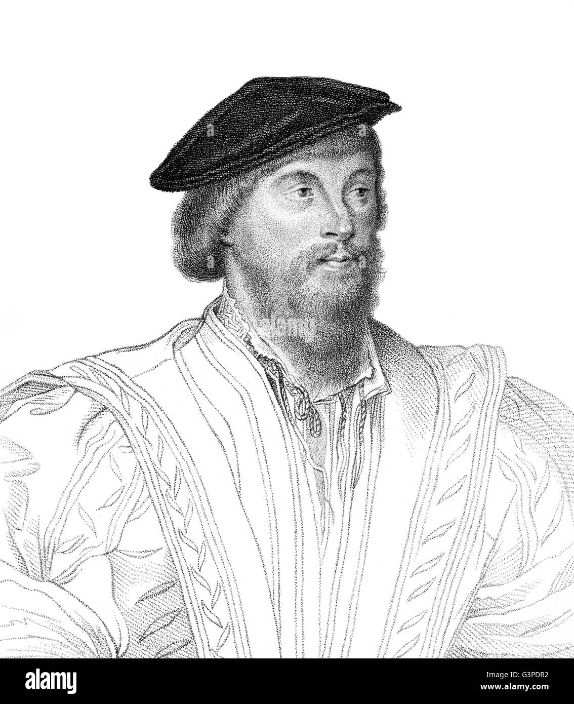 Nicholas Vaux, 1st Baron Vaux of Harrowden, c. 1460-1523, a soldier and courtier in England - Stock Image