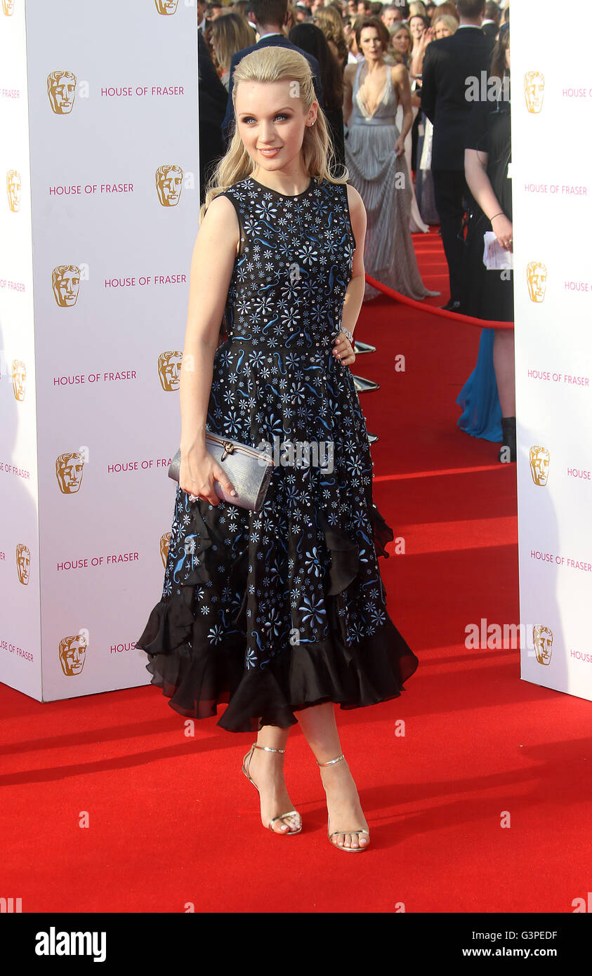 May 8, 2016 - Emily Berrington attending BAFTA TV Awards 2016 at Royal Festival Hall in London, UK. Stock Photo