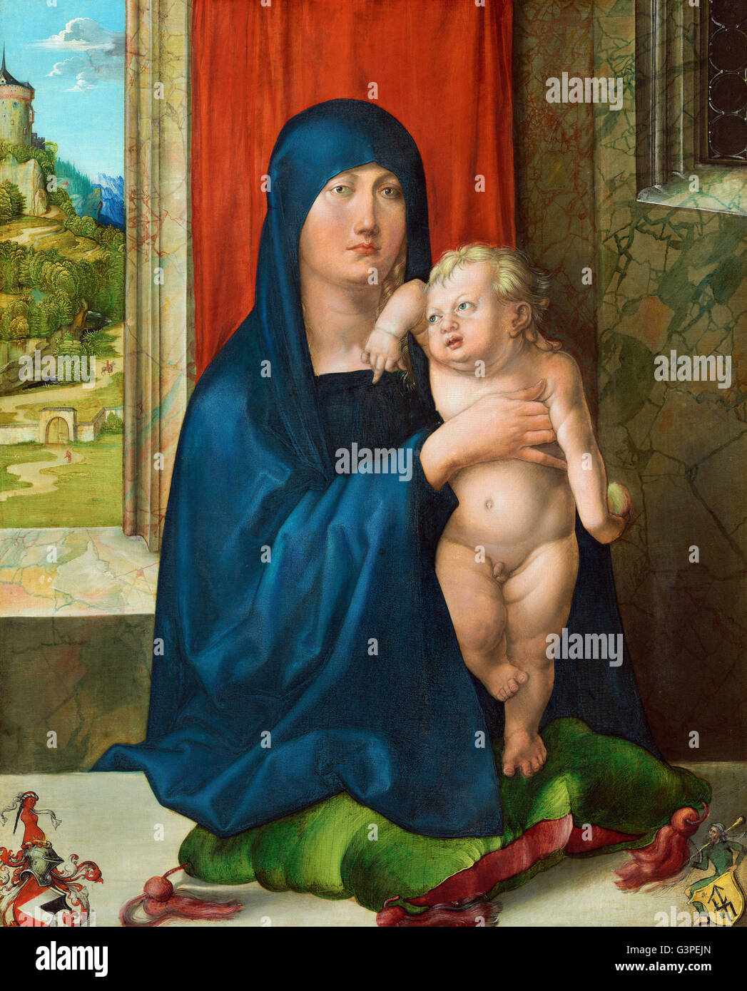 Albrecht Durer - Madonna and Child (obverse) - National Gallery of Art, Washington DC - Stock Image