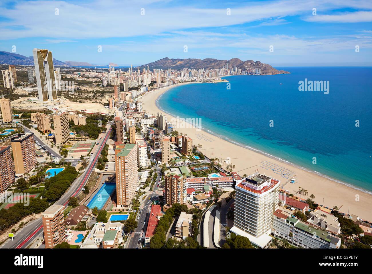 Aerial view of benidorm stock photos aerial view of - Stock uno alicante ...