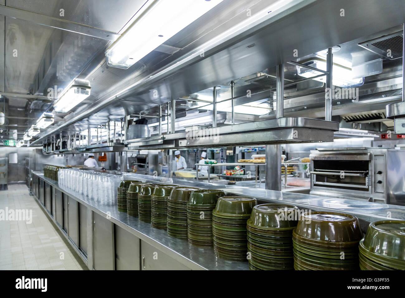 Empty Commercial Kitchen In Restaurant Stock Photos & Empty ...