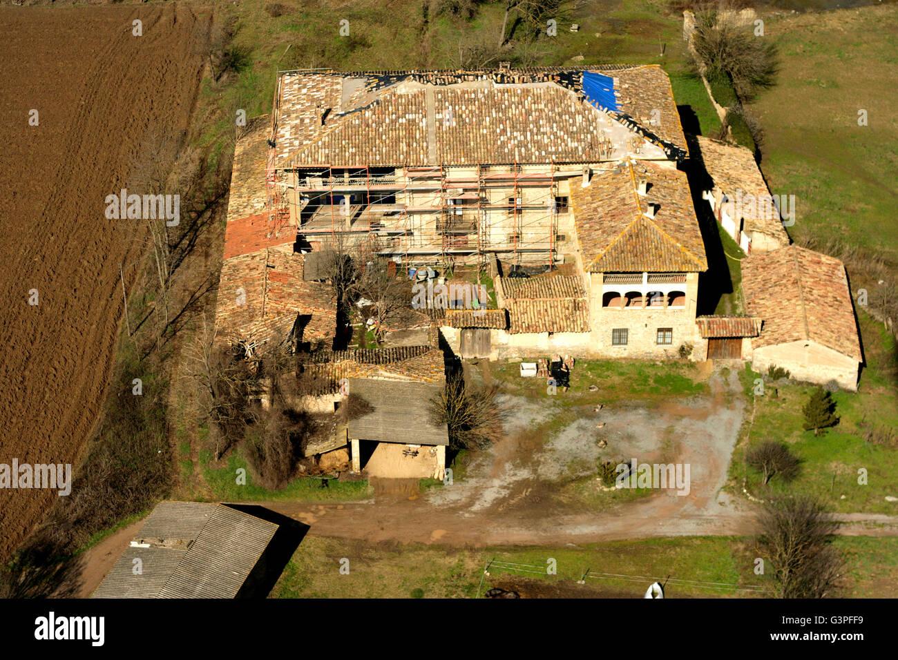 Abandonded home. Plana de Vic. Barcelona province. Catalonia. Spain - Stock Image