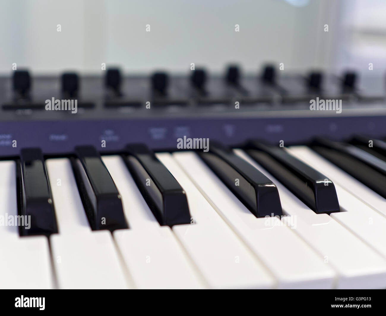 Synthesizer Keyboard Closeup - Stock Image