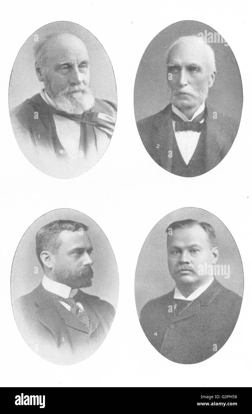 CANADA WRITERS: Wm Dawson; Goldwin Smith; Gilbert Parker; Louis Frechette, 1907 Stock Photo