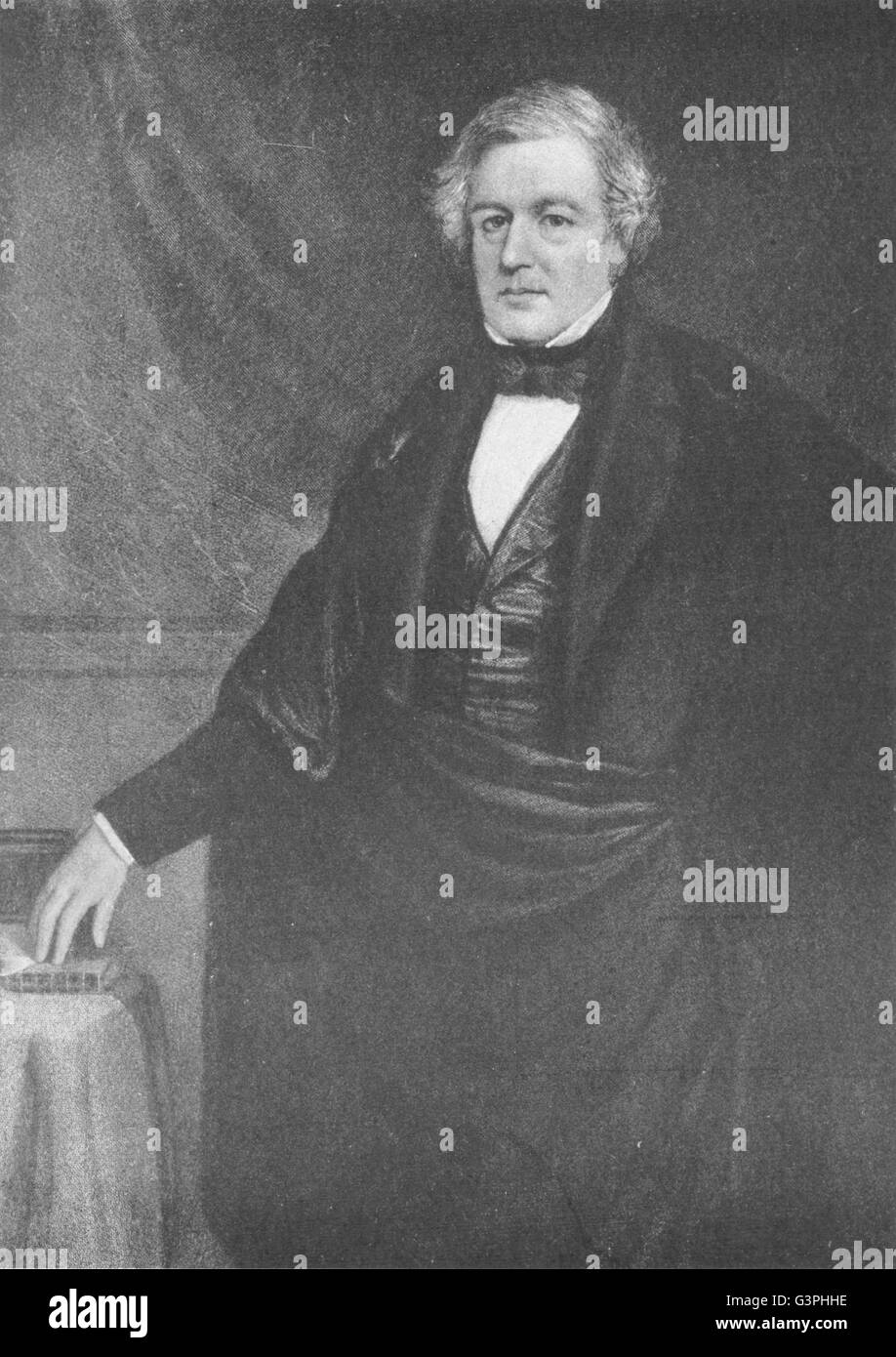 MILLARD FILLMORE: Thirteenth President of the United States, old print 1907 Stock Photo