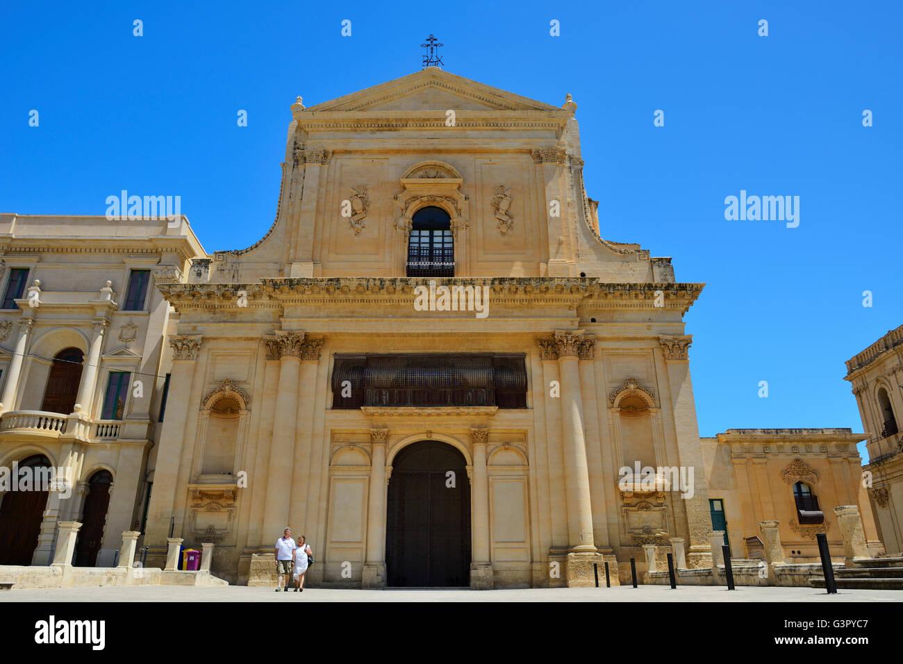 Salvatore Convent in Noto, Sicily, Italy Stock Photo