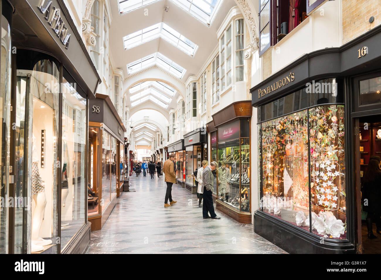 Upmarket shops in Burlington Arcade, Piccadilly, London, England, UK - Stock Image