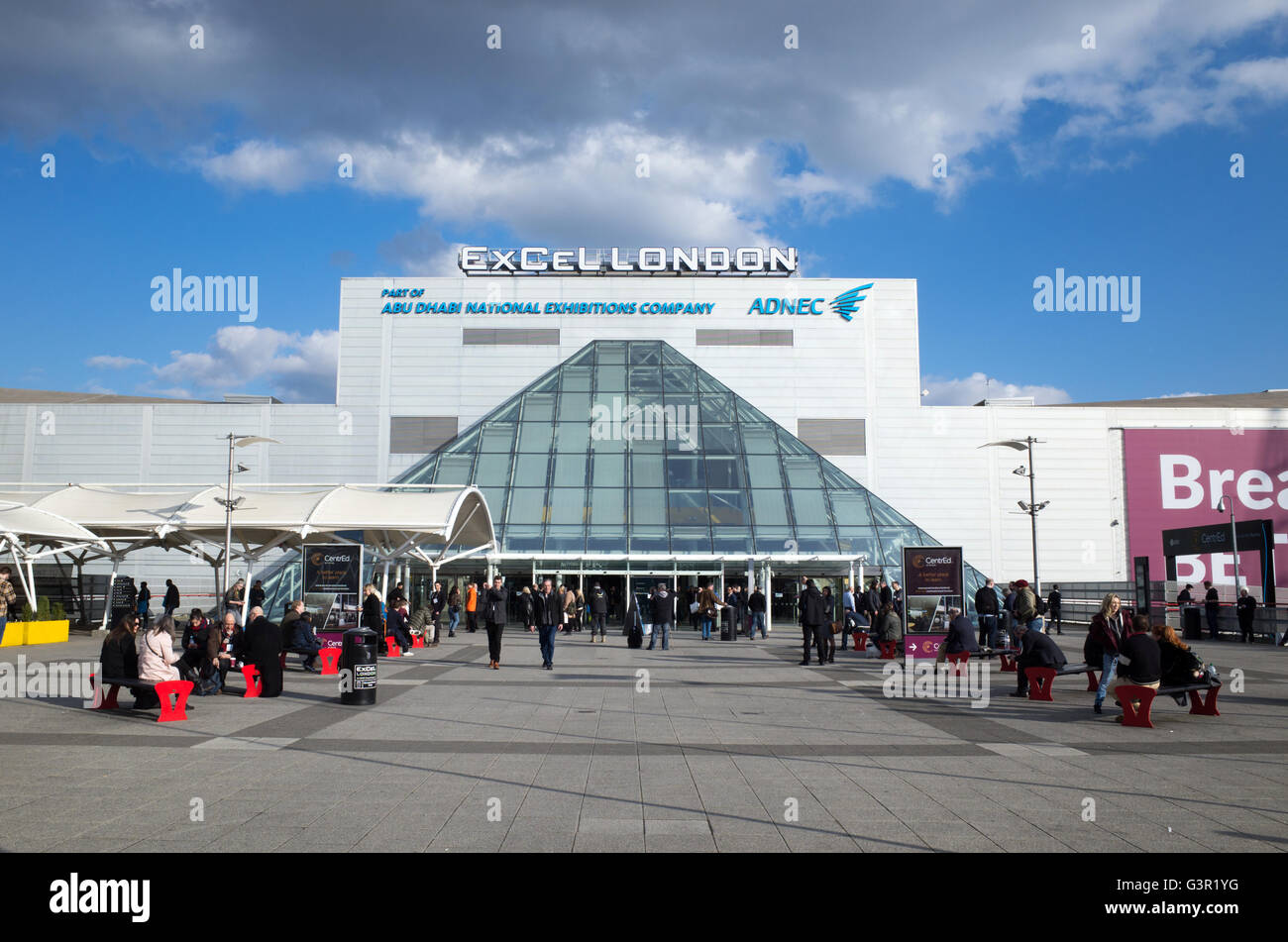 Excel exhibition centre, London, England, UK - Stock Image