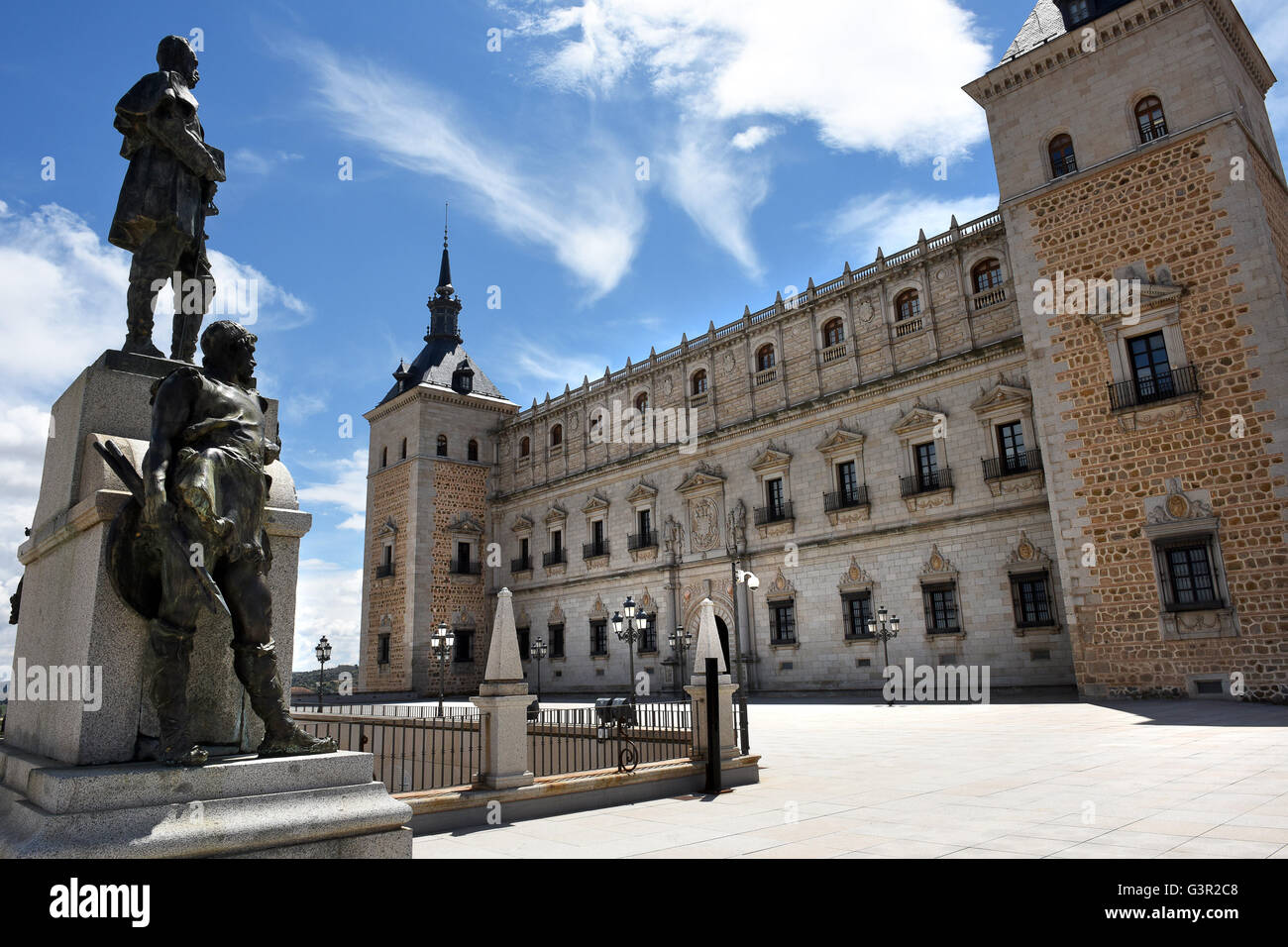 The Alcazar of Toledo Spanish Army Museum - Stock Image