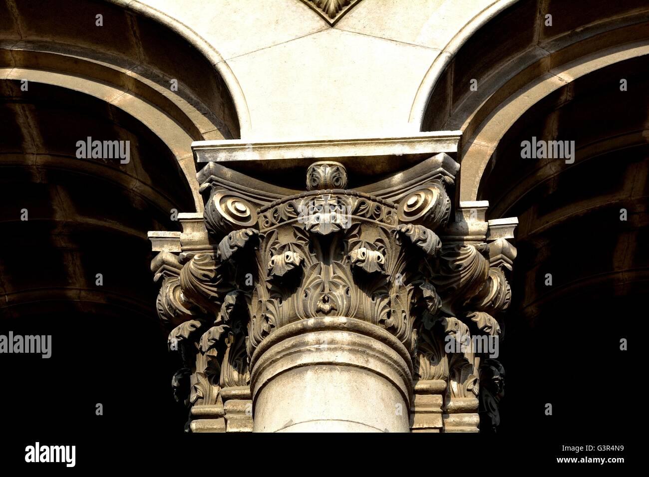 Capitel and archs - Stock Image