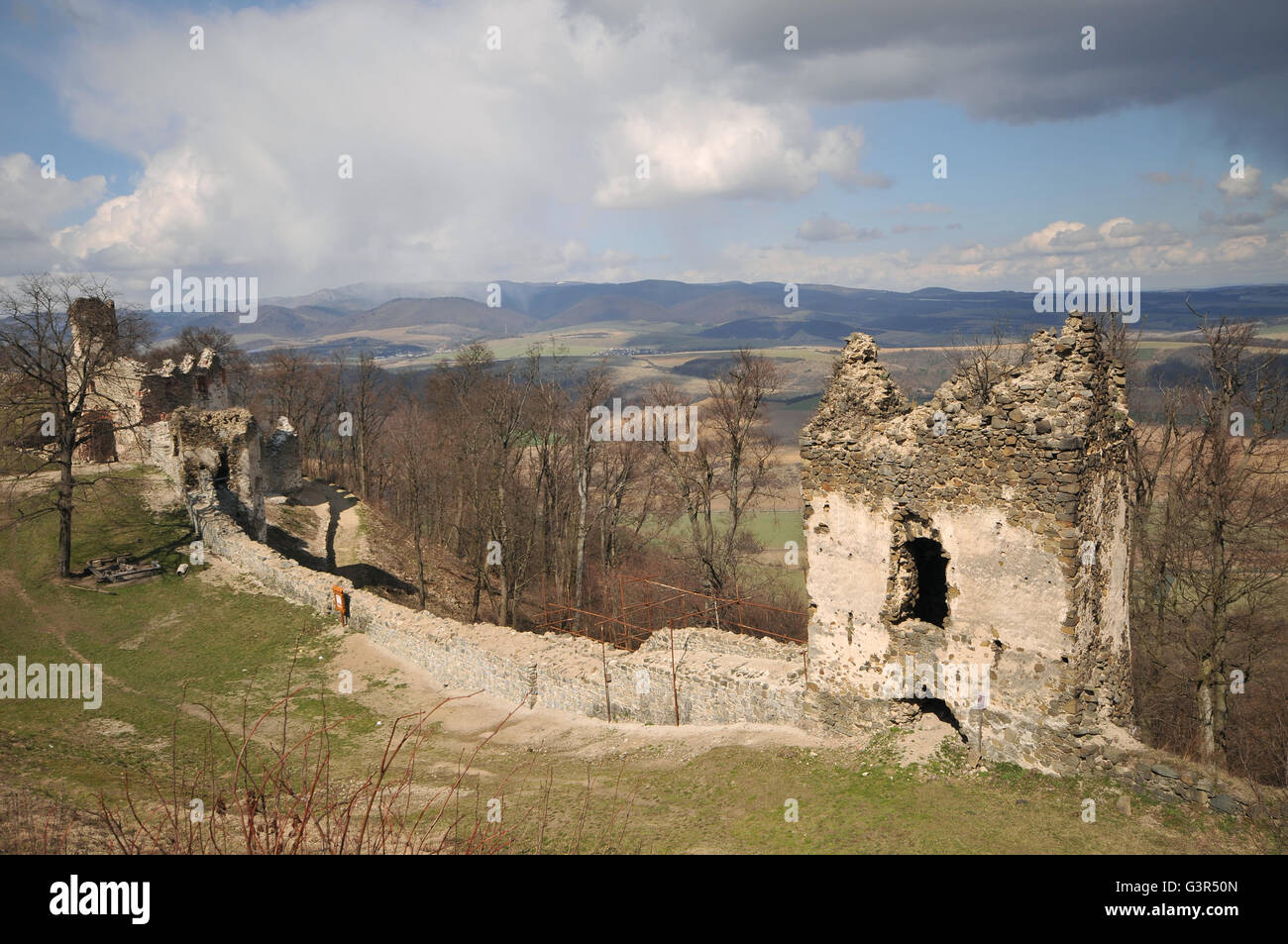 Ruins of Saris castle in Slovakia Stock Photo