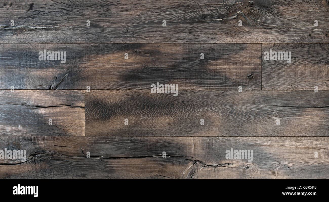 Wooden background. Tack texture. Abstract dark wood rustic surface - Stock Image