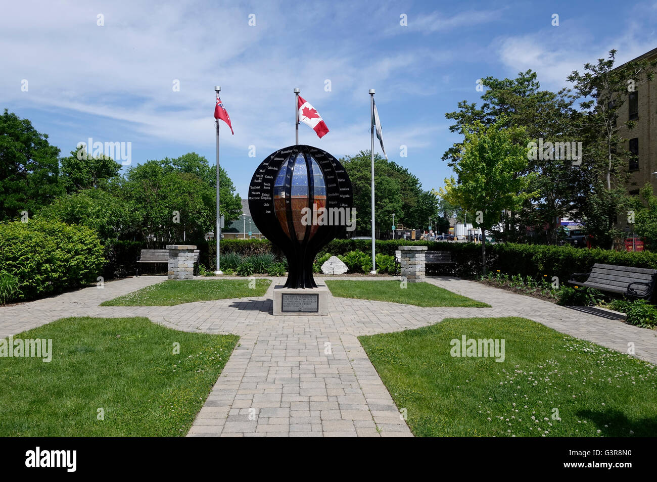 The Time Capsule At Banting House Museum London Ontario, Birthplace Of Insulin And Home Of Dr Banting Stock Photo