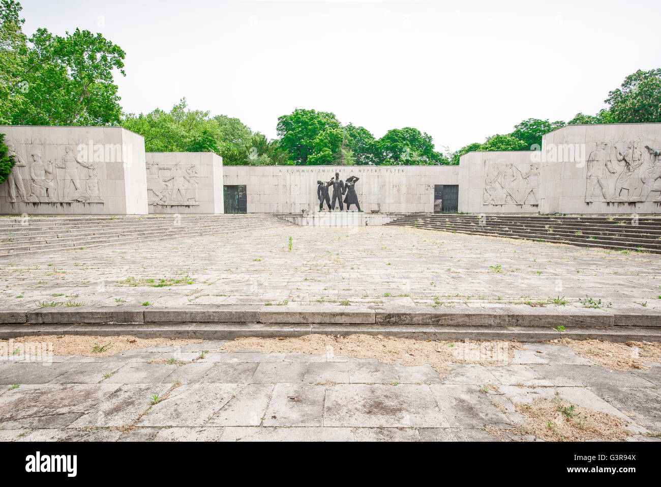 Hungary communism, view of the Communist Pantheon Of The Working Class Movement, Kerepesi cemetery Budapest, Hungary - Stock Image