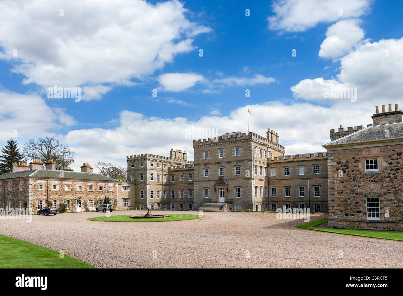 The front of Mellerstain House, Gordon, Scottish Borders, Scotland, UK - Stock Image