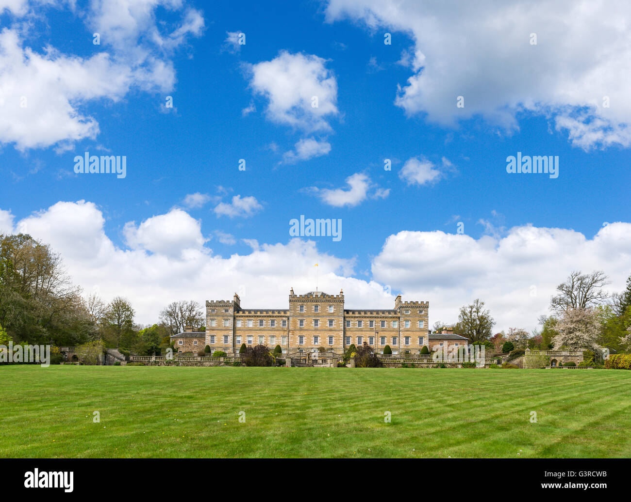 The rear of Mellerstain House, Gordon, Scottish Borders, Scotland, UK - Stock Image