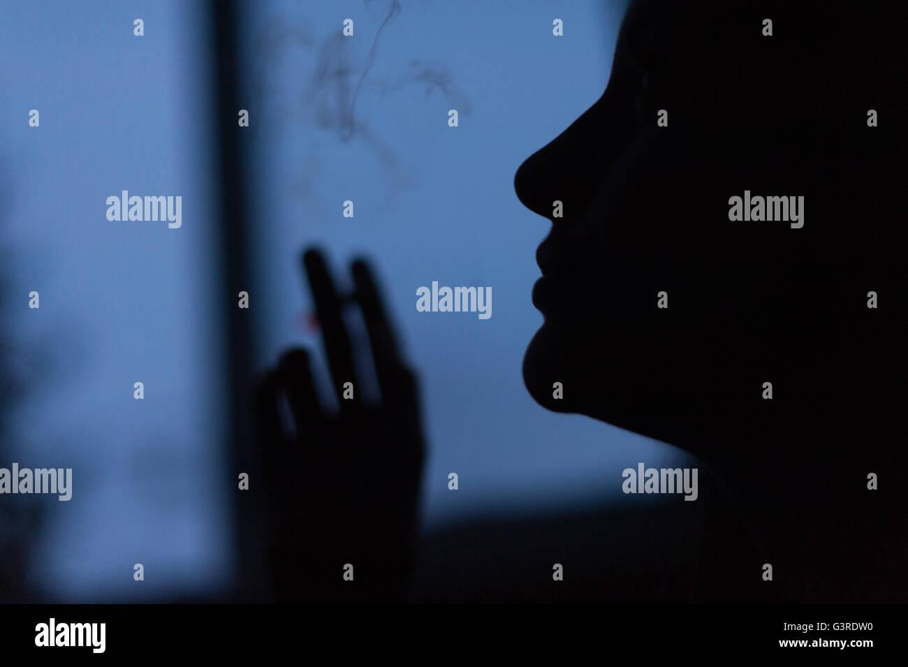 Smoker - Stock Image