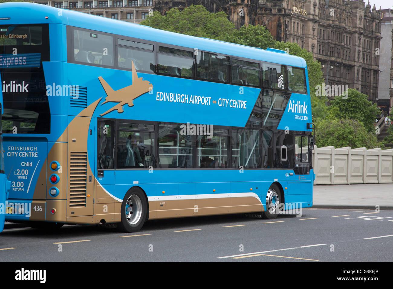 Edinburgh Airport Airlink Bus Scotland Uk Stock Photo Alamy