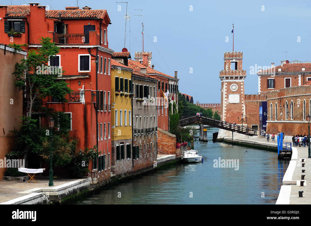 Venice, Italy. The of Arsenale. - Stock Image