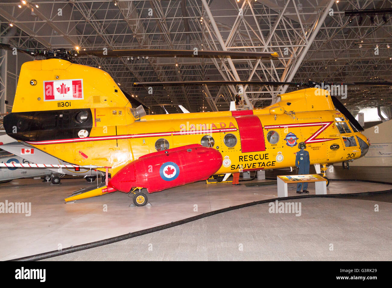 Boeing CH-113 Labrador Rescue Helicopter on display at the Canadian Aviation and Space Museum in Ottawa, Ontario, - Stock Image